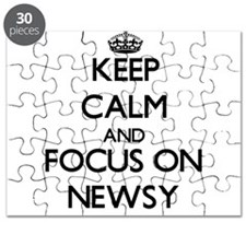 Keep Calm and focus on Newsy Puzzle