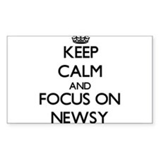 Keep Calm and focus on Newsy Decal