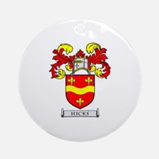 HICKS Coat of Arms Ornament (Round)