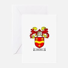 HICKS Coat of Arms Greeting Cards (Pk of 10)