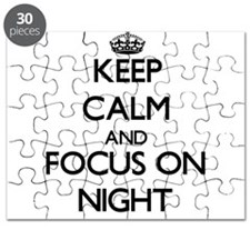 Keep Calm and focus on Night Puzzle