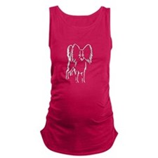 Papillon Sketch Maternity Tank Top