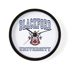 BLACKFORD University Wall Clock