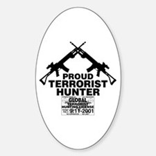 Terrorist Hunting Oval Decal