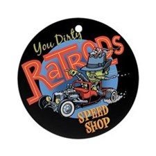 You Dirty Rat Rod Ornament (Round)