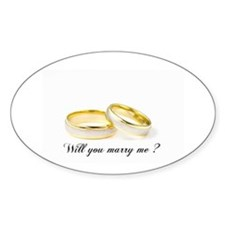 wedding bands Will you marry me? Decal