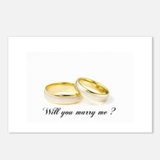 wedding bands Will you marry me? Postcards (Packag