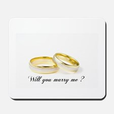 wedding bands Will you marry me? Mousepad