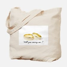 wedding bands Will you marry me? Tote Bag