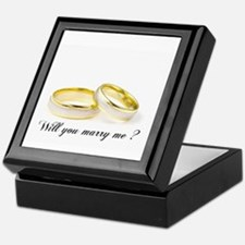 wedding bands Will you marry me? Keepsake Box