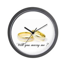 wedding bands Will you marry me? Wall Clock