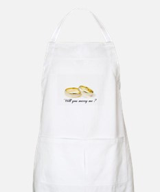 wedding bands Will you marry me? Apron