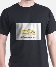 wedding bands Will you marry me? T-Shirt