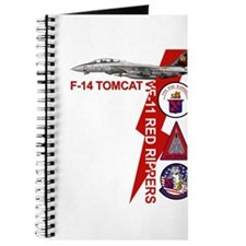 Funny Tomcat fighter jet Journal