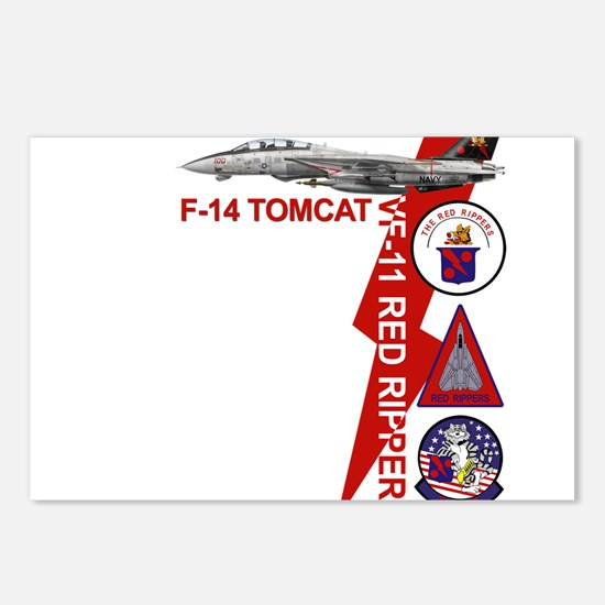 Unique Tomcat fighter jet Postcards (Package of 8)