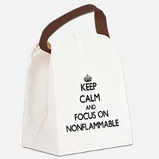 Keep Calm and focus on Nonflammab Canvas Lunch Bag