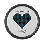 Heart - Clergy Large Wall Clock