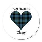Heart - Clergy Round Car Magnet