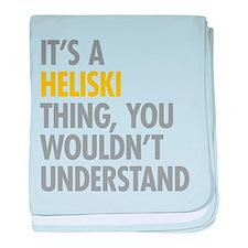 Its A Heliski Thing baby blanket