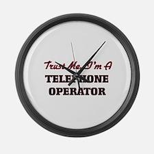 Trust me I'm a Telephone Operator Large Wall Clock