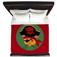 Pirate Kitty King Duvet