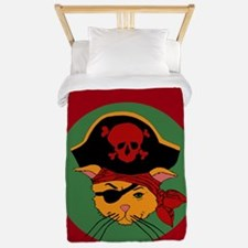 Pirate Kitty Twin Duvet