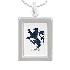 Lion - Clergy Silver Portrait Necklace