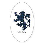 Lion - Clergy Sticker (Oval 10 pk)