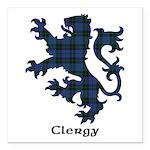 Lion - Clergy Square Car Magnet 3