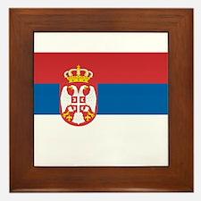 Serbia Flag Framed Tile