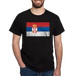 Serbia Flag Dark T-Shirt