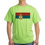 Serbia Flag Green T-Shirt
