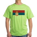 Serbia Flag Green T-Shirt
