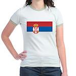 Serbia Flag Jr. Ringer T-Shirt