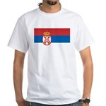 Serbia Flag White T-Shirt