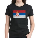 Serbia Flag Women's Dark T-Shirt