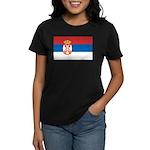 Serbia Flag Women's Dark T-Shirt