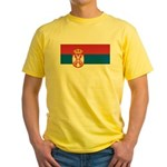 Serbia Flag Yellow T-Shirt