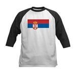 Serbia Flag Kids Baseball Jersey