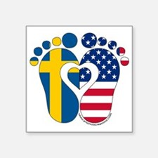 Swedish American Baby Sticker