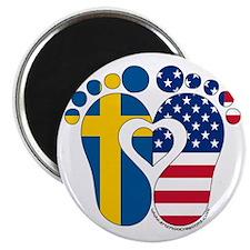 Swedish American Baby Magnets