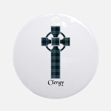 Cross - Clergy Ornament (Round)