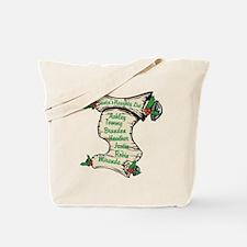 Santas Personalized Naughty List Tote Bag