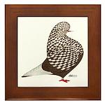 Brown Teager Pigeon Framed Tile