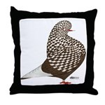 Brown Teager Pigeon Throw Pillow