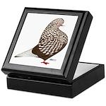 Brown Teager Pigeon Keepsake Box