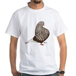 Brown Teager Pigeon White T-Shirt