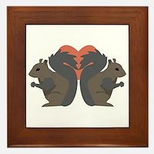 Squirrel Love Framed Tile