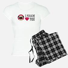 I Puggin' Love You pajamas