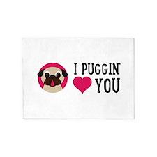 I Puggin' Love You 5'x7'Area Rug